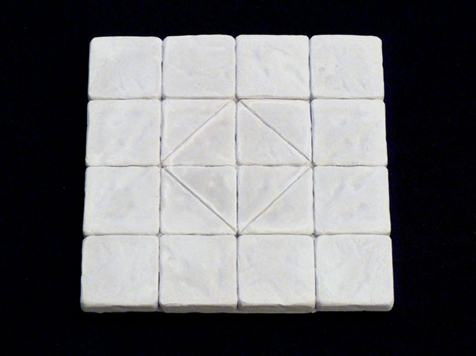 "Dungeonstone Decorative 4"" x 4"" Floor Tile"